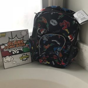 Pottery barn large Justice league backpack nwt